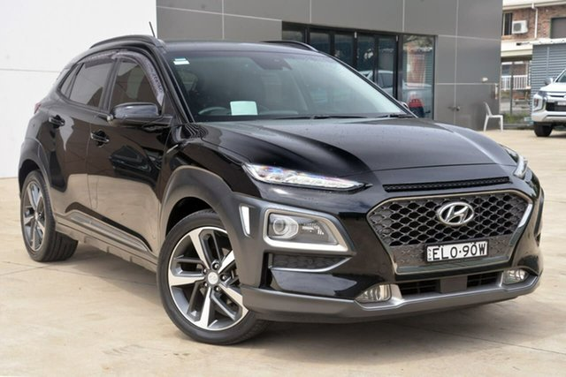 Used Hyundai Kona OS MY18 Highlander 2WD Tuggerah, 2017 Hyundai Kona OS MY18 Highlander 2WD Black 6 Speed Sports Automatic Wagon