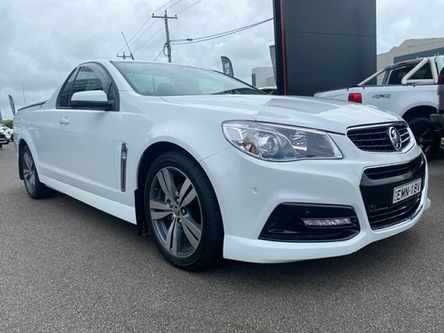 Used Holden Ute VF MY14 SV6 Ute Cardiff, 2013 Holden Ute VF MY14 SV6 Ute White 6 Speed Sports Automatic Utility