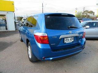 2009 Toyota Kluger GSU40R KX-R (FWD) 5 Seat Blue 5 Speed Automatic Wagon
