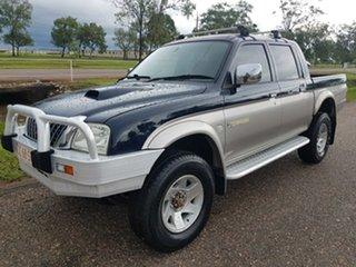 2004 Mitsubishi Triton MK MY05 GLS Double Cab Blue 5 Speed Manual Utility.