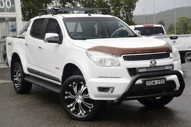 Used Holden Colorado RG MY13 LX Crew Cab West Gosford, 2012 Holden Colorado RG MY13 LX Crew Cab White 5 Speed Manual Cab Chassis