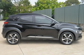 2017 Hyundai Kona OS MY18 Highlander 2WD Black 6 Speed Sports Automatic Wagon.