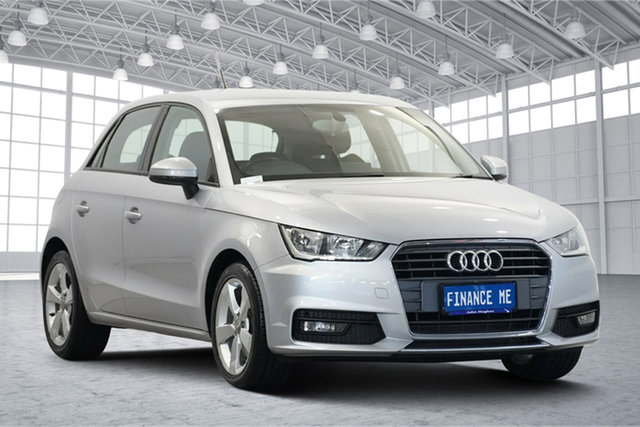 Used Audi A1 8X MY16 Sport Sportback S Tronic Victoria Park, 2016 Audi A1 8X MY16 Sport Sportback S Tronic Silver 7 Speed Sports Automatic Dual Clutch Hatchback