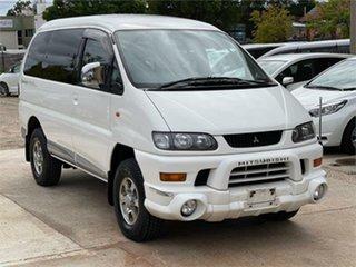 2003 Mitsubishi Delica PD6W Spacegear White Automatic Van Wagon.