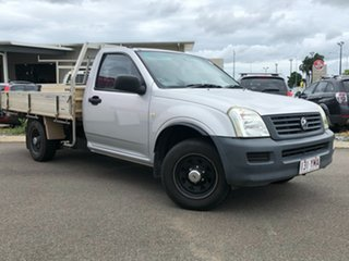 2005 Holden Rodeo RA MY05 DX 4x2 Silver 5 Speed Manual Cab Chassis.