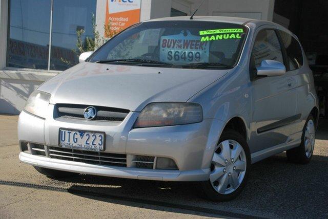 Used Holden Barina TK MY08 Wendouree, 2007 Holden Barina TK MY08 Silver 5 Speed Manual Hatchback