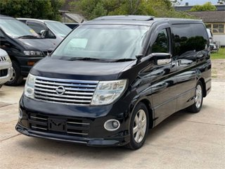 2007 Nissan Elgrand E51 Highway Star Black Automatic Wagon.