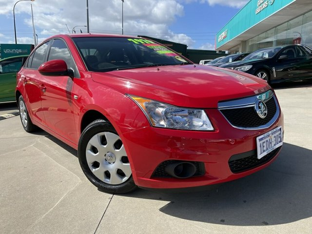 Used Holden Cruze JH MY12 CD Victoria Park, 2011 Holden Cruze JH MY12 CD Red 5 Speed Manual Sedan