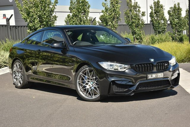 Used BMW M4 F82 Competition M-DCT Essendon Fields, 2016 BMW M4 F82 Competition M-DCT Black 7 Speed Sports Automatic Dual Clutch Coupe