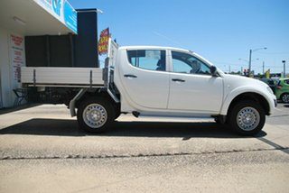 2013 Mitsubishi Triton MN MY14 GLX (4x4) White 4 Speed Automatic 4x4 Double Cab Utility