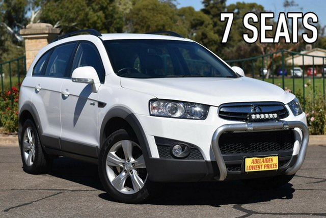 Used Holden Captiva CG MY13 7 AWD CX Enfield, 2013 Holden Captiva CG MY13 7 AWD CX White 6 Speed Sports Automatic Wagon
