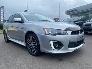 2016 Mitsubishi Lancer CF MY17 GSR Sportback Silver 5 Speed Manual Hatchback.