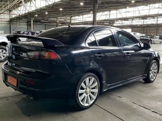 2008 Mitsubishi Lancer CJ MY09 Ralliart TC-SST Black 6 Speed Sports Automatic Dual Clutch Sedan