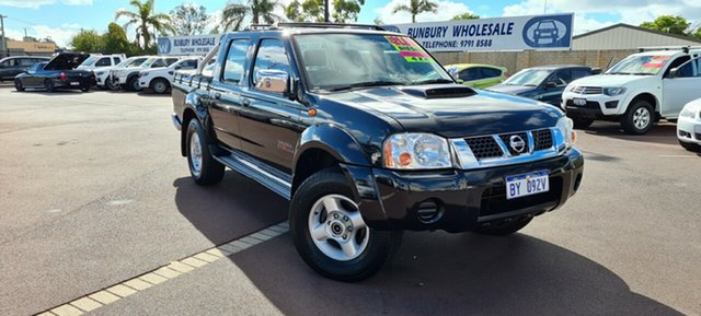 Used Nissan Navara D22 MY2009 ST-R East Bunbury, 2010 Nissan Navara D22 MY2009 ST-R Black 5 Speed Manual Utility