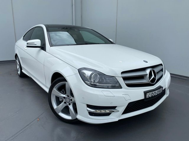Used Mercedes-Benz C-Class C204 MY13 C180 BlueEFFICIENCY 7G-Tronic + Liverpool, 2013 Mercedes-Benz C-Class C204 MY13 C180 BlueEFFICIENCY 7G-Tronic + White 7 Speed Sports Automatic