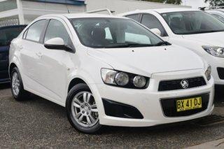 2013 Holden Barina TM MY13 CD White 6 Speed Automatic Sedan.