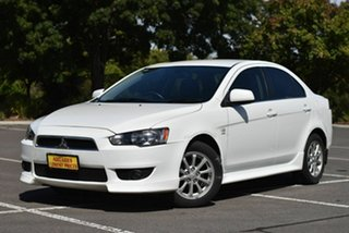 2012 Mitsubishi Lancer CJ MY12 VR White 6 Speed Constant Variable Sedan.