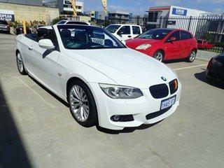 2010 BMW 330d E93 MY11 Polar White 7 Speed Auto Direct Shift Convertible.