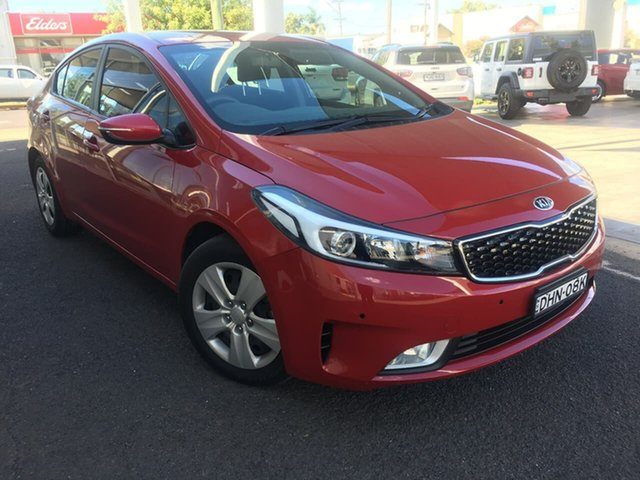 Used Kia Cerato YD S Dubbo, 2016 Kia Cerato YD S Red Sports Automatic