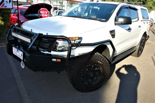 Used Ford Ranger PX XL Seaford, 2014 Ford Ranger PX XL White 6 Speed Sports Automatic Utility