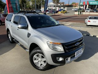 2014 Ford Ranger PX XLT Double Cab Silver 6 Speed Manual Utility.