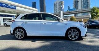 2020 Hyundai i30 PD.V4 MY21 N Line Premium Polar White 7 Speed Auto Dual Clutch Hatchback.
