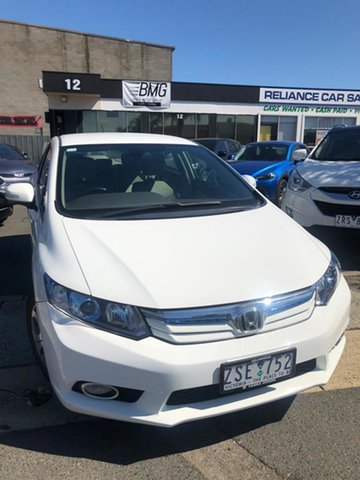 Used Honda Civic MY12 Hybrid Cheltenham, 2012 Honda Civic MY12 Hybrid Alaska White Continuous Variable Sedan