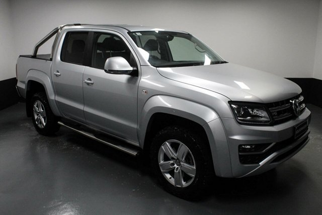 Used Volkswagen Amarok 2H MY17 TDI550 4MOTION Perm Highline Hamilton, 2016 Volkswagen Amarok 2H MY17 TDI550 4MOTION Perm Highline Reflex Silver 8 Speed Automatic Utility
