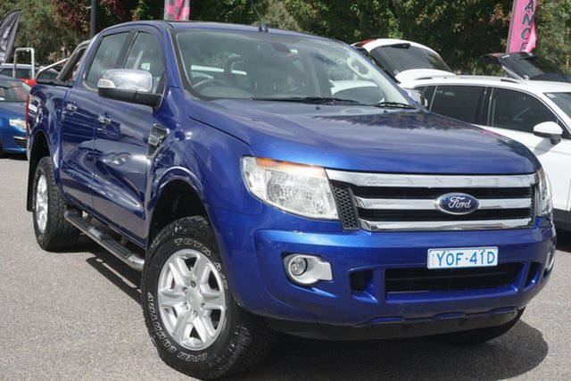 Used Ford Ranger PX XLT Double Cab Phillip, 2012 Ford Ranger PX XLT Double Cab Blue 6 Speed Sports Automatic Utility