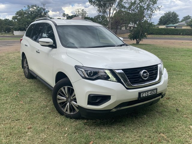 Pre-Owned Nissan Pathfinder R52 Series II MY17 ST X-tronic 2WD Moree, 2018 Nissan Pathfinder R52 Series II MY17 ST X-tronic 2WD White 1 Speed Constant Variable Wagon