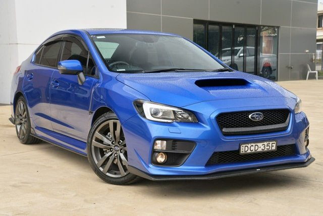 Used Subaru WRX V1 MY16 Premium AWD Tuggerah, 2015 Subaru WRX V1 MY16 Premium AWD Blue 6 Speed Manual Sedan