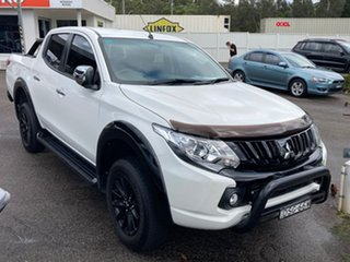 2017 Mitsubishi Triton MQ MY17 GLS Double Cab Sports Edition White 6 Speed Manual Utility.