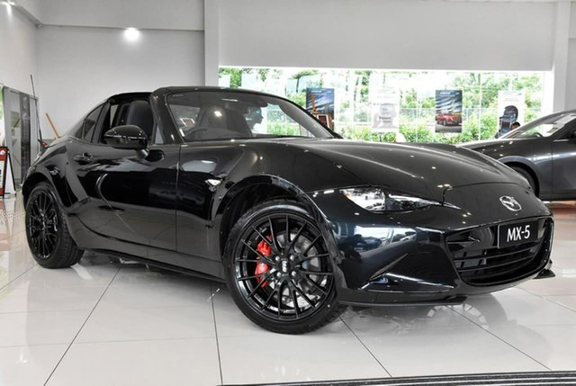 New Mazda MX-5 ND GT RF SKYACTIV-MT RS Waitara, 2020 Mazda MX-5 ND GT RF SKYACTIV-MT RS Black 6 Speed Manual Targa