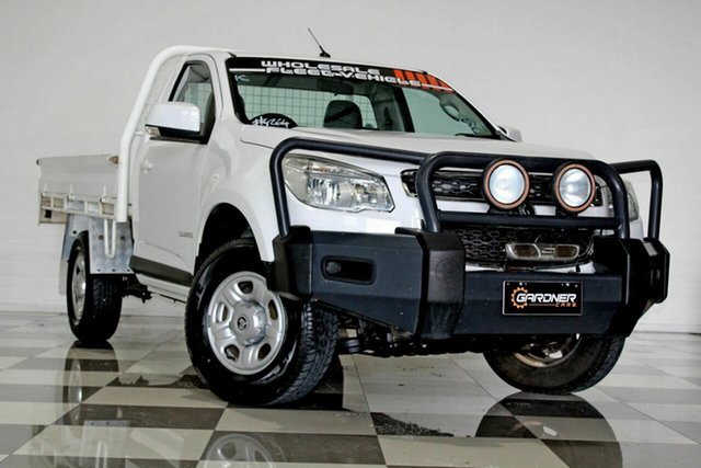 Used Holden Colorado RG MY15 LS (4x2) Burleigh Heads, 2014 Holden Colorado RG MY15 LS (4x2) White 6 Speed Automatic Cab Chassis