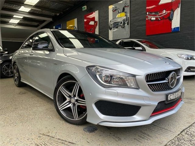 Used Mercedes-Benz CLA-Class C117 Glebe, 2014 Mercedes-Benz CLA-Class C117 CLA250 Sport Silver Sports Automatic Dual Clutch Coupe