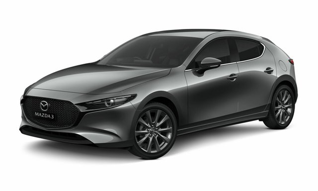 New Mazda 3 BP2HLA G25 SKYACTIV-Drive GT Toowoomba, 2020 Mazda 3 BP2HLA G25 SKYACTIV-Drive GT Machine Grey 6 Speed Sports Automatic Hatchback