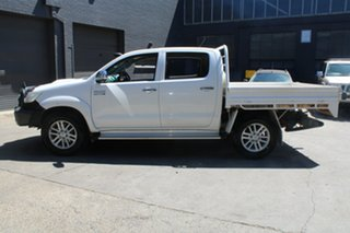 2013 Toyota Hilux KUN26R MY12 SR5 (4x4) White 4 Speed Automatic Dual Cab Pick-up