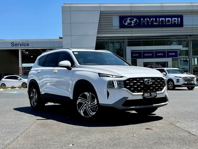 Demo Hyundai Santa Fe Tm.v3 MY21 Active CRDi (AWD) South Melbourne, 2020 Hyundai Santa Fe Tm.v3 MY21 Active CRDi (AWD) White Cream 8 Speed Auto Dual Clutch Wagon