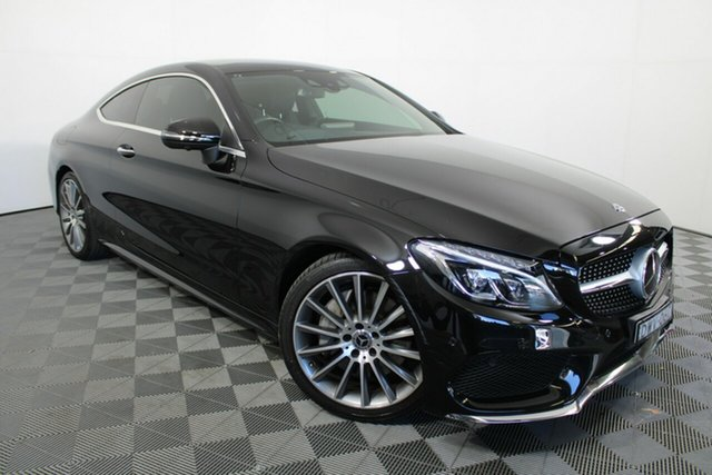 Used Mercedes-Benz C-Class C205 808MY C300 9G-Tronic Wayville, 2018 Mercedes-Benz C-Class C205 808MY C300 9G-Tronic Black 9 Speed Sports Automatic Coupe