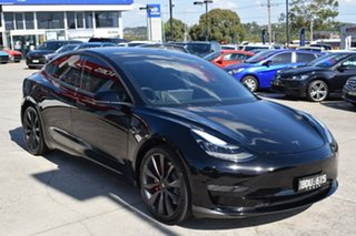 2019 Tesla Model 3 MY20 Performance AWD Black 1 Speed Reduction Gear Sedan.