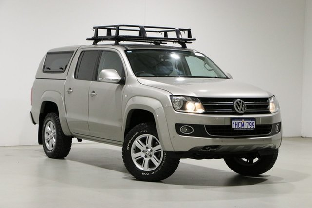 Used Volkswagen Amarok 2H MY15 TDI420 Highline (4x4) Bentley, 2015 Volkswagen Amarok 2H MY15 TDI420 Highline (4x4) Beige 8 Speed Automatic Dual Cab Utility