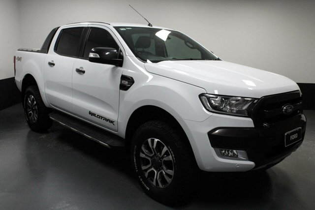 Used Ford Ranger PX MkII Wildtrak Double Cab Rutherford, 2016 Ford Ranger PX MkII Wildtrak Double Cab White 6 Speed Sports Automatic Utility