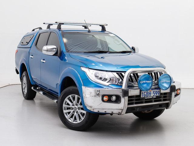 Used Mitsubishi Triton MQ MY16 GLS (4x4), 2016 Mitsubishi Triton MQ MY16 GLS (4x4) Blue 5 Speed Automatic Dual Cab Utility