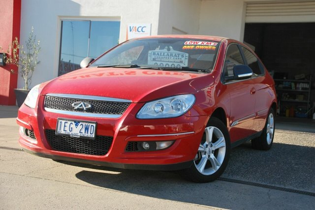 Used Chery J3 M1X Wendouree, 2014 Chery J3 M1X Red 5 Speed Manual Hatchback