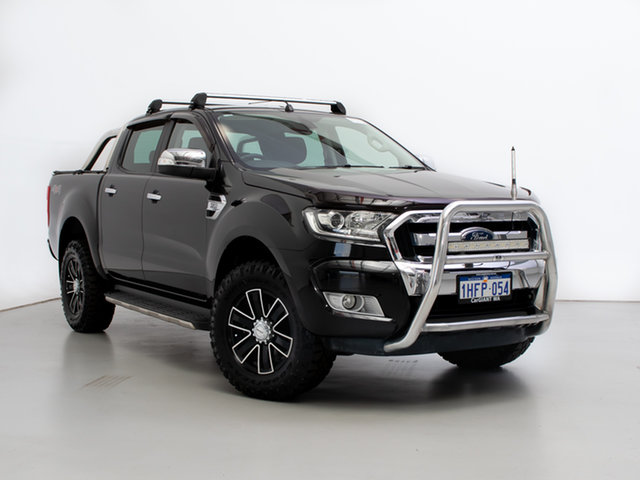Used Ford Ranger PX MkII XLT 3.2 (4x4), 2015 Ford Ranger PX MkII XLT 3.2 (4x4) Black 6 Speed Manual Double Cab Pick Up