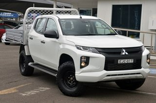 2019 Mitsubishi Triton MR MY20 GLX+ Double Cab White 6 Speed Sports Automatic Utility.