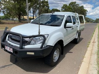 2016 Isuzu D-MAX MY15 SX Crew Cab White 5 Speed Manual Cab Chassis