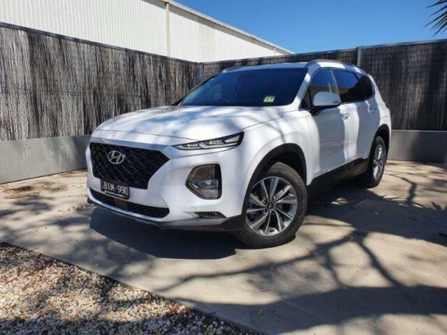 Demo Hyundai Santa Fe Wangaratta, 2020 Hyundai Santa Fe TM.2 SANTA FE 7S ACTIVE X 2.2D AUTO (S1W72FC5KDDAG6) White Cream AT-8SPEED 4WD