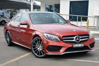 2016 Mercedes-Benz C-Class W205 807MY C250 7G-Tronic + Red 7 Speed Sports Automatic Sedan