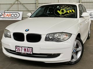 2009 BMW 1 Series E87 MY09 120d Steptronic White 6 Speed Automatic Hatchback.